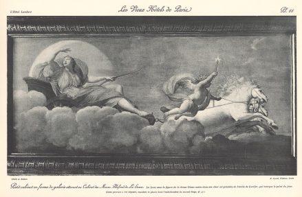 Plansza numer 66 - Mały gabinet w formie galerii przylegającej do Gabinetu Muz. Sufit Le Sueur'a.