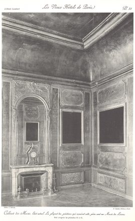 Plansza numer 51 - Stan obecny. Większość obrazów, które ozdabiały pokój są w Muzeum Luwru.