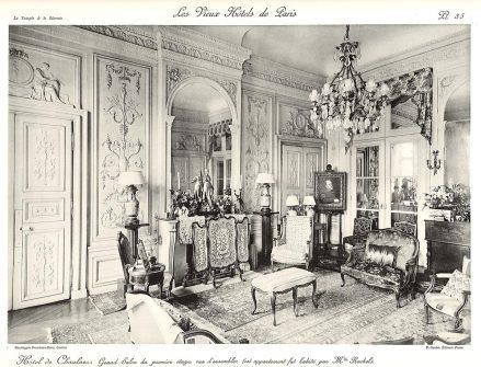 Plansza numer 35 - Wielki salon na pierwszym piętrze, widok ogólny.