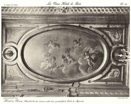 Plansza numer 34 - Szczegóły jednego z kasetonów owalnych dużego sufitu
