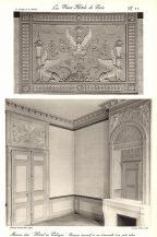 Plansza numer 27 - Panel dekoracyjny i widok ogólny małego salonu.19 Hotel de Soubise