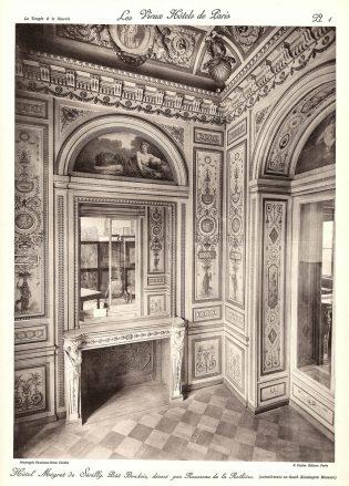 Plansza numer 1 - Mały buduar, udekorowany przez Rousseau de la Rothiere