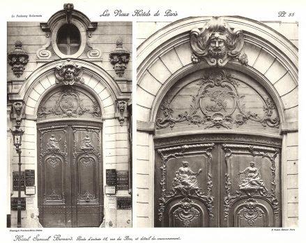 Plansza numer 35 - Drzwi wejściowe, ulica du Bac 46