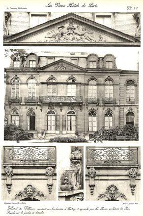 Plansza numer 28 Fasada od ogrodu i szczegóły