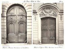 Plansza numer 22. Hotel de Mortemar. Drzwi wejściowe, ulica Saint-Guillaume 14. Hotel de Gouffier de Thoix. Drzwi wejściowe, ulica de Varenne 56.