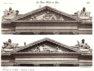 Plansza numer 4 - Frontony pawilonów: 1) Okcydentalnego 2) Orientalnego