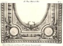 Plansza numer 39 - Duży salon. Widok geometryczny sufitu.