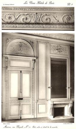 Plansza numer 8 - Mały salon i szczegóły gzymsu.