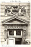 Plansza numer 3 - Górna część drzwi i płaskorzeźba antresoli.