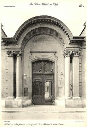 Plansza numer 1 - Elewacja portalu wejściowego