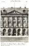 Plansza numer 3 - Plac Vendome 13. Hotel Bourvallais 1706. Hotel de Villemare 1706. Oba połączono w 1718. Kancelaria Francji, później Ministerstwo Sprawiedliwości. Przedni strona zachodnia.