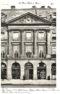 Plansza numer 4 - Plac Vendome 22. Hotel Germain Boffranf. Hotel Magon de la Balue 1780. Hotel de Gargan 1878. Przekrój ściany, przód.