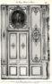 Plansza numer 15 - Ministerstwo Sprawiedliwości. Wielki salon na pierwszym piętrze. Szczegóły drzwi i boazerii. Wysokość ogólna 4,94m. Szerokość drzwi wyłączając obramowanie 1,64m.