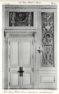 Plansza numer 22 - Hotel de Grammont 1704. Wielki salon na pierwszym piętrze. Szczegóły drzwi.