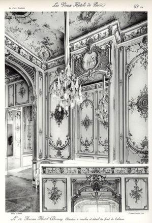 Plansza numer 41 - Dawny Hotel Dornay. Sypialnia i szczegóły tła alkowy.