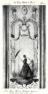 Plansza numer 45 - Hotel de Boullogne, Wielki salon. Płyta malowana przez Lancreta. Kobieta pod parasolem.