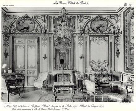 Plansza numer 66 - Hotel Germain Boffrand. Hotel Magon de la Balue 1780. Hotel de Gargan 1878. Mały salon należący do pana barona Fould Springer'a (1.widok).