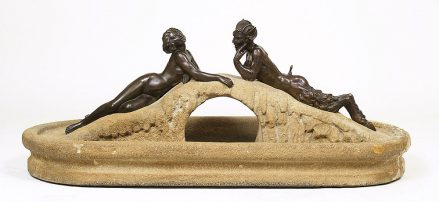sandstone, bronze, ca c1930