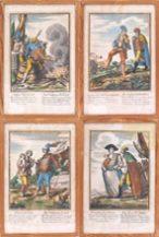 miedzioryty ręcznie kolorowane, Niemcy, I poł. XVIII w.