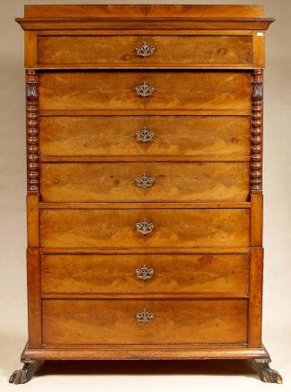veneered with mahogany, ca c1850
