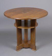 veneered with oak, inlay, ca c1900