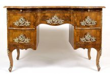 veneered with walnut, bronze, ca c1900