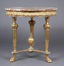 polichromia, złocenia, blat marmur, XIX w.