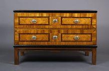veneered with walnut, oak construction, Prague ca c1800,