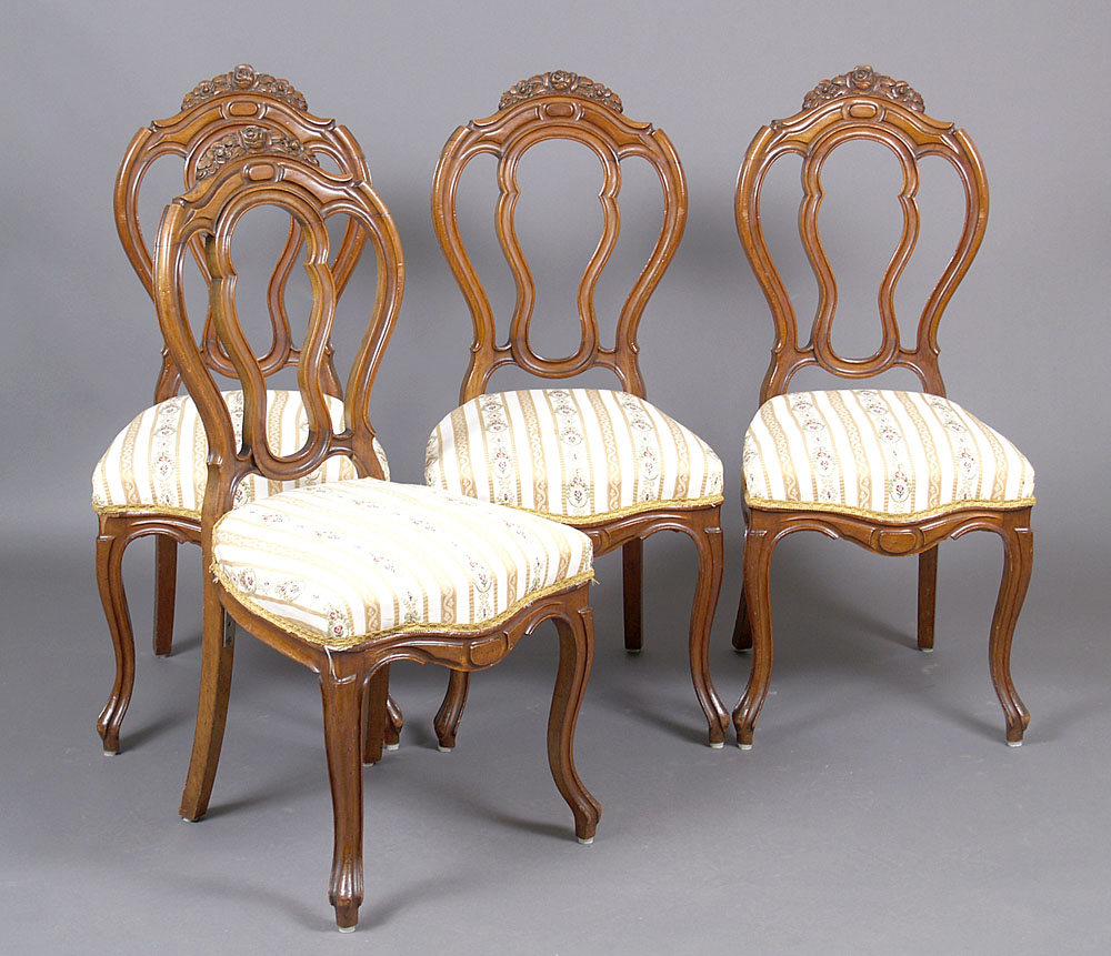 Set Of Four Louis Philippe Style Chairs