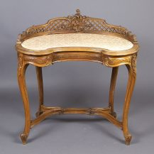 massif walnut, decoration, France ca c1900
