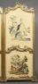 konstrukcja drewniana, złocenia tkanina jedwab, ok. 1900r.