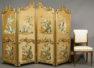 wood construction, gildings, fabric silk, ca c1900