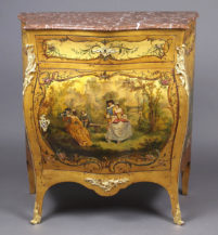 polychrome, gilt brass fittings, marble top, I half of the XX thC,