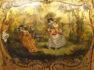 polichromia, złocenia, mosiężne okucia, blat marmur, I połowa XX w