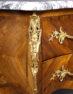 okleiny palisander, brąz złocony, blat marmur, XX w.