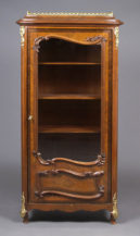 veneered with rosewood and mahogany, gilt brass, c. 1900