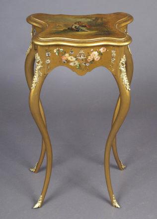 konstrukcja drewno owocowe, polichromia, złocenia, mosiężne okucia. ok. 1900r.