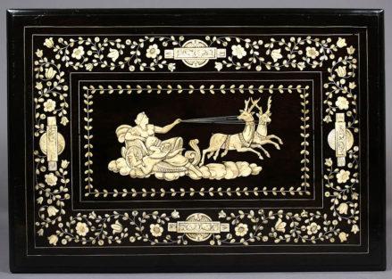 heban, kość, cyna, Włochy XVIII w.