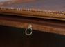 Konstrukcja mahoniowa, snycerka, mosiężne ciągadła. Początek XIX w.