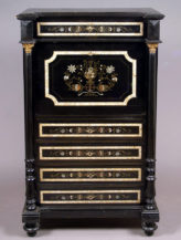 ebony, ebonized with copper, tin and mother-of-pearl, Austria, around 1880
