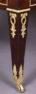 veneered with mahogany, brass, leather, I half of the XIX thC.,
