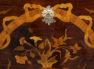okleiny palisander, intarsje z różnych gatunków drewna, XX w.