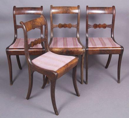 veneered with mahogany, half of the 19thC