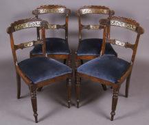 konstrukcja jesion, inkrustacja z blachy mosiężnej, Anglia około 1820r.
