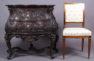richly carved, brass, 20thC