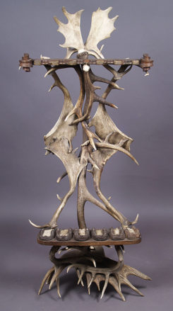 constructed with antlers, oak and brass elements