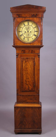 veneered with mahogany, mechanism W.Barr&Son, Scotland, half of the 19thC