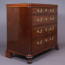 veneered with mahogany, brass, end of 19thC