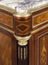 inlay from different kinds of wood, brass, table top marble, end of 19thC