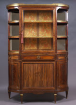 veneered with mahogany, brass, marble, Paris II half of the 19thC